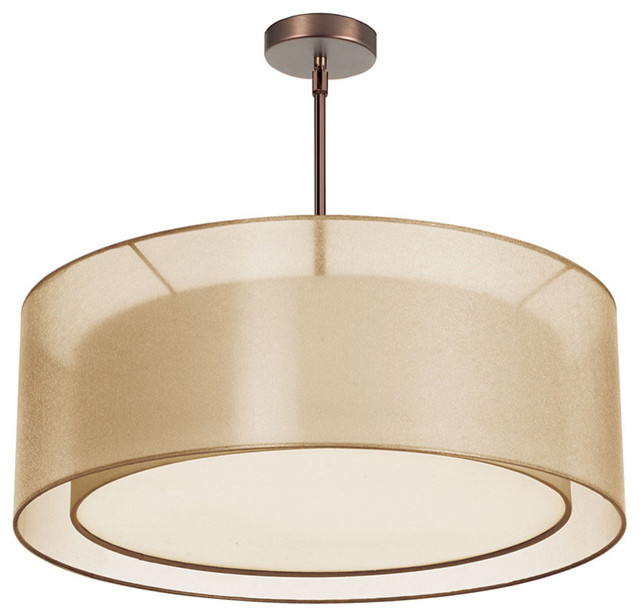 modern drum pendant lighting. dainolite 4lt double drum pendant goldwhite modernpendantlighting modern lighting