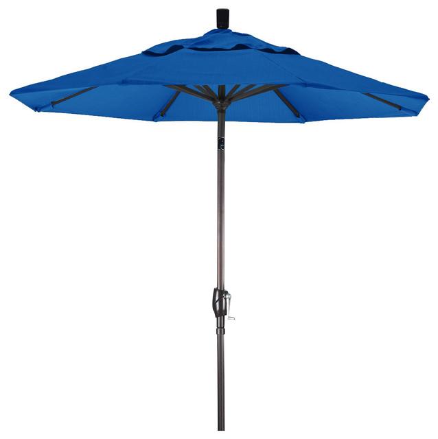 7 5 Aluminum Market Umbrella Push Tilt Bronze Sunbrella