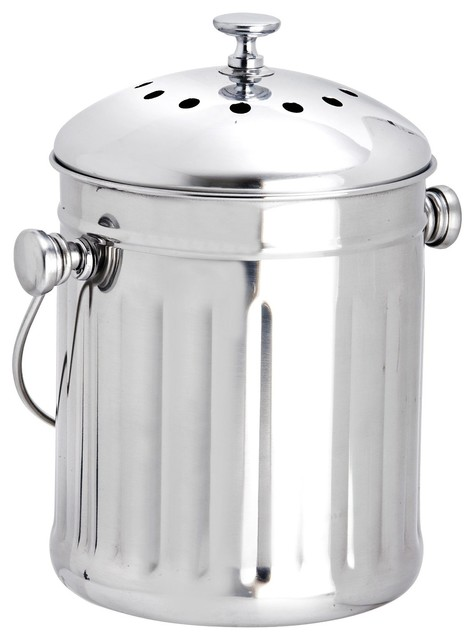 Erdington S Stainless Steel Mini Compost Bin Bins By Online Kitchenware