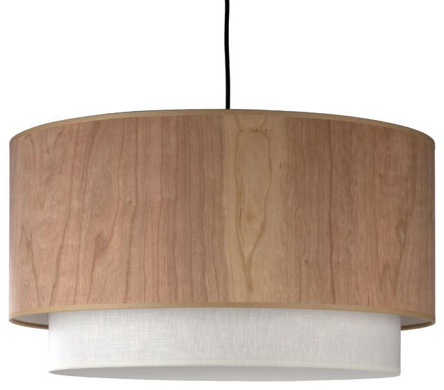Wood veneer pendant lighting houzz lights up woody pendant in white oak veneer shade pendant lighting mozeypictures Images