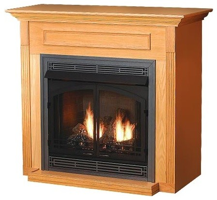 Standard Corner Cabinet Mantel EMBC3SO with Base, Oak ...