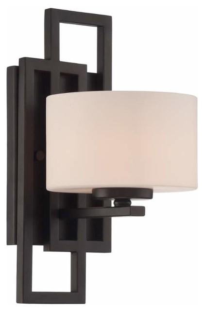 Lite source ls 16524 adalyn 1 light bathroom sconce transitional bathroom vanity lighting for Transitional bathroom lighting