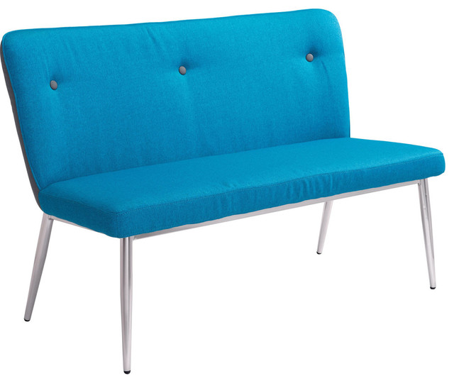 Hope Bench Blue Gray Midcentury Upholstered Benches By Furniture East Inc