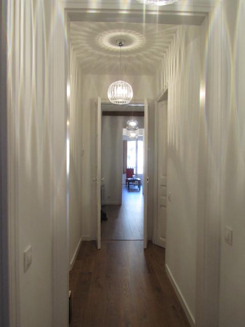 Reforma vivienda en barcelona contemporaneo corridoio - Fem arquitectura ...