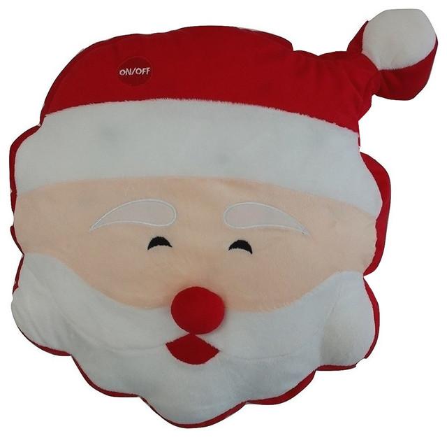 Cute Microbead Pillow : Tache Cute Christmas Lights Cheery Santa Microbead LED Throw Pillow - Contemporary - Christmas ...