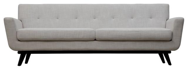 Belgian Linen Sofa Button Tufted.