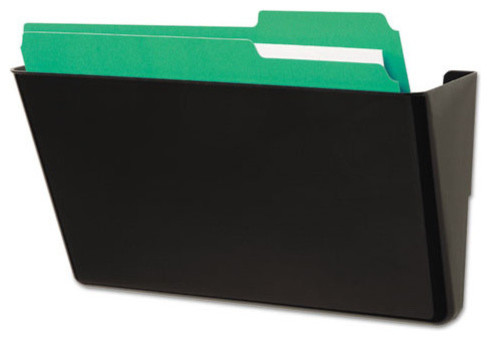 Recycled Wall File, Add-On Pocket, Plastic, Black - Filing Cabinets - by Alliance Supply