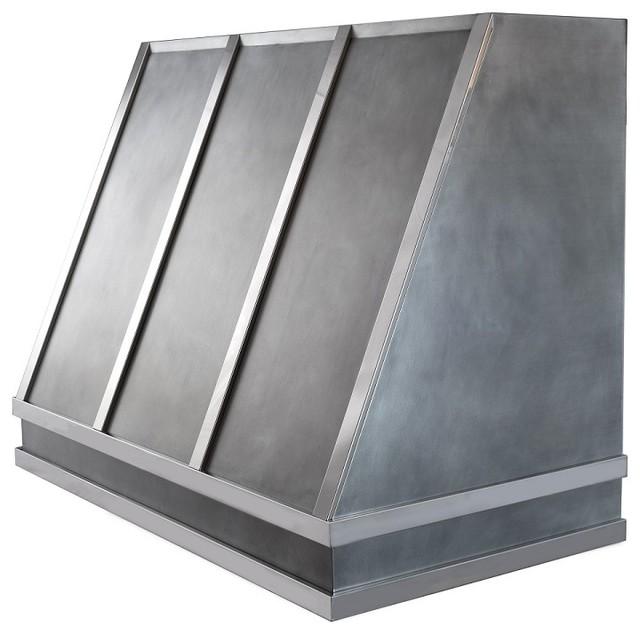 "Zinc Range Hood, RH-4 Shape, 48""x39"""