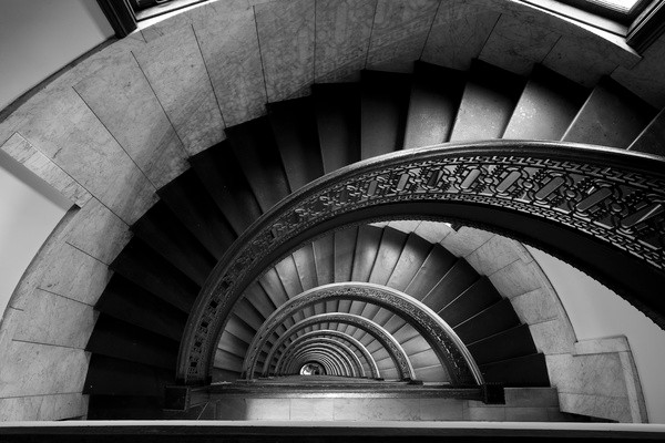 Half spiral staircase i art print modern artwork for Half spiral staircase