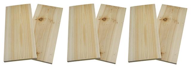Cedar Wood Grilling Plank 2 Piece Packs, Set Of 6.