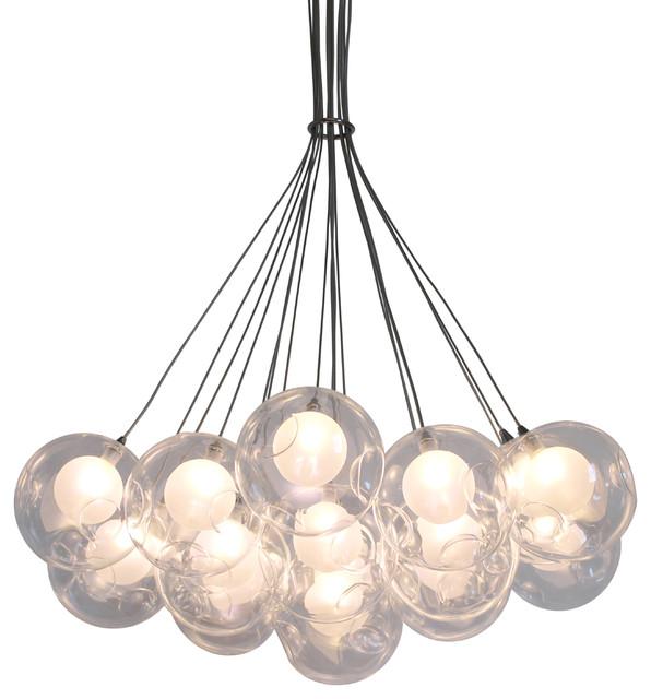 Ara 19 Light Glass Sphere Round LED Chandelier