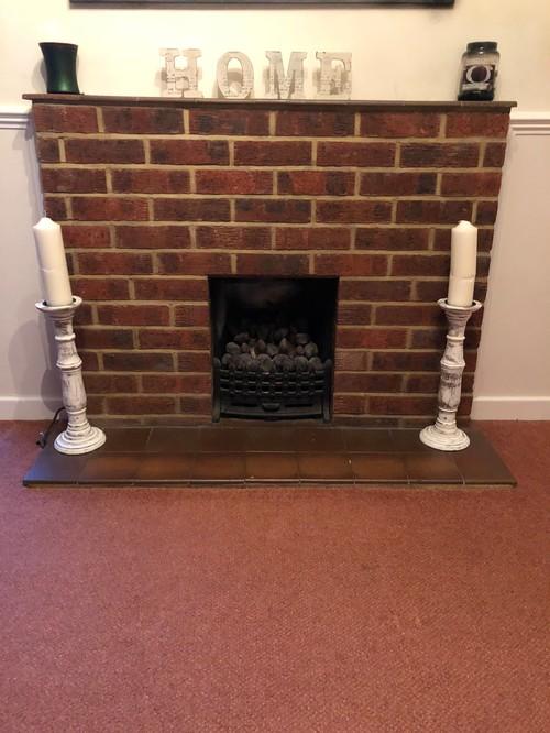 Modernising Old Brick Fireplace