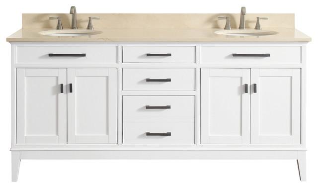 Avanity Madison 73 Double Sink Vanity Combo Transitional