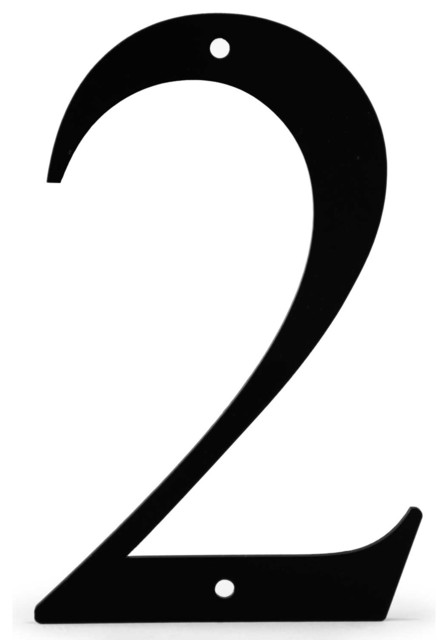 Black 6 Wrought Iron House Number