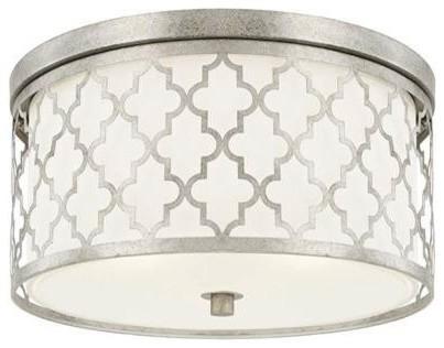 Capital Ellis 3-Lighting Ceiling, Antique Silver.