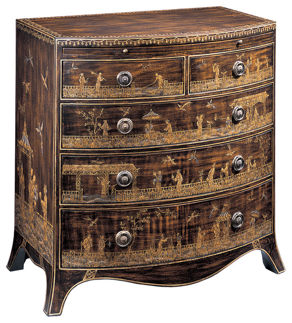 Hand Painted Chest With Pull Out Shelf Asian Accent Chests And