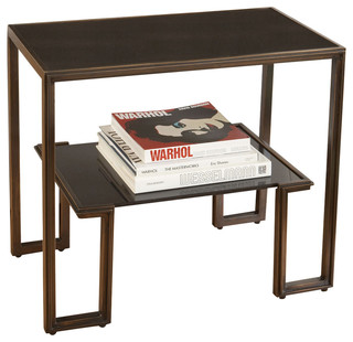One Up Table, Bronze Finish