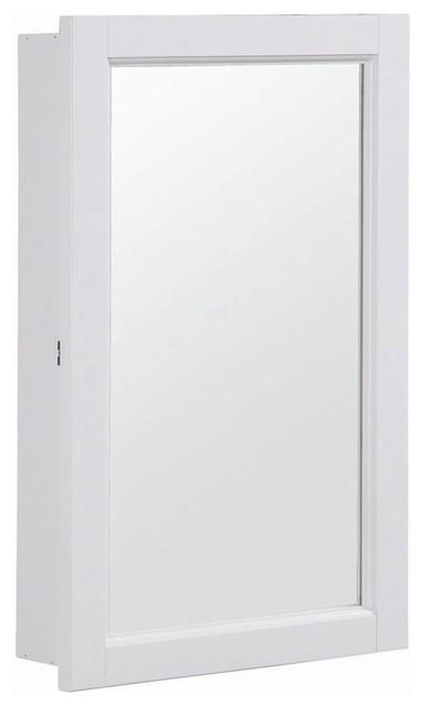 Concord Ready-To-Assemble Single Door Medicine Cabinet w Mirror - Contemporary - Bathroom ...