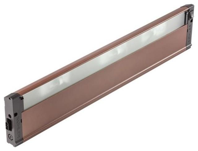 "4U Series 120V 22"" 3-Light Under Cabinet Bronze Textured Frosted Glass"