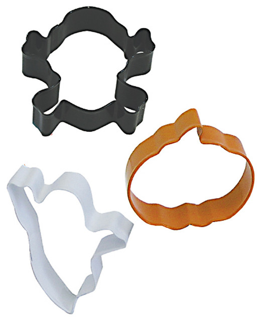 3-Piecehalloween Cookie Cutter Set With Bag.