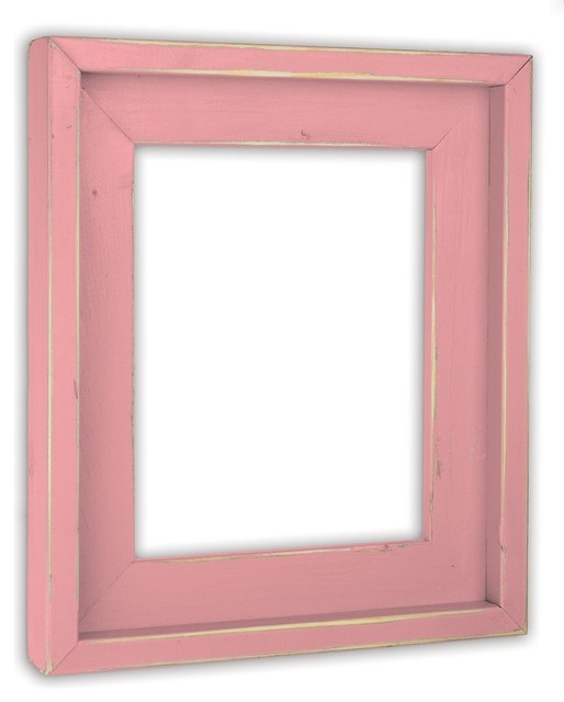 Farmhouse Baby Pink Picture Frame Solid Wood Rustic Picture