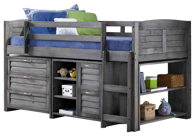Moddy Low Loft Bed Transitional Kids Beds By Donco Trading Co