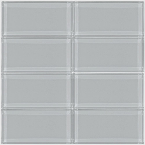 3x6 Smoke Gray Glass Subway Tile Modern Wall And Floor Tile