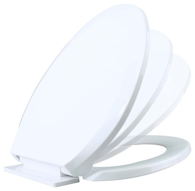 Renovator 39 S Supply Toilet Seat Slow Ez Close No Slam Plastic Elongated Wh