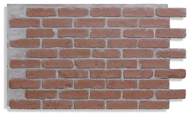 28 X48 Brick Wall Paneling Faux Red Light Grout
