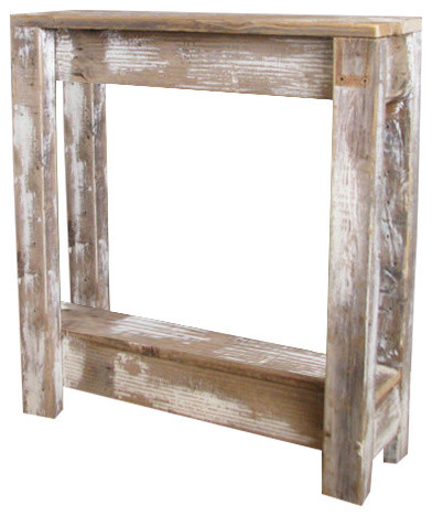 Distressed Square Accent Table Rustic Console Tables