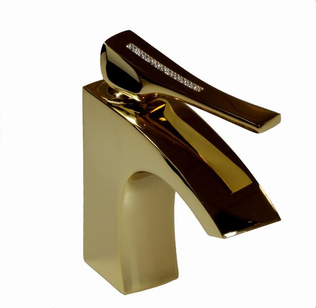 Skip diamond bathroom faucet with swarovski crystal handle - Gold bathroom faucets with crystal handles ...