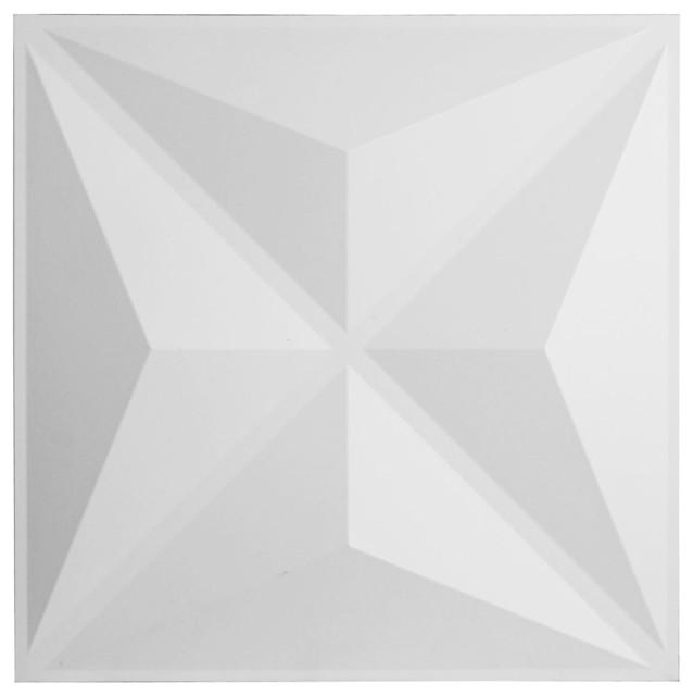 "19 5/8""w X 19 5/8""h Haven Endurawall Decorative 3d Wall Panel, White."