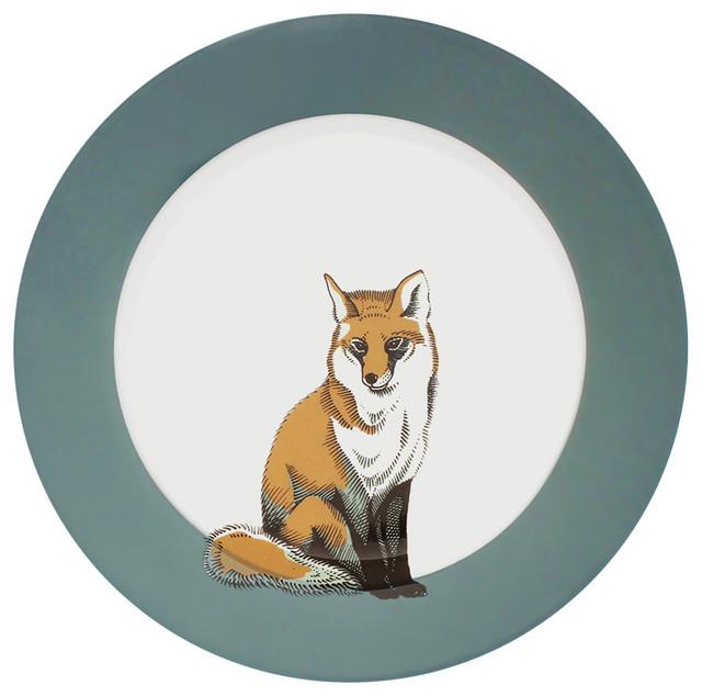faunus bone china dinner plate fox modern dinner plates - China Dinner Plates