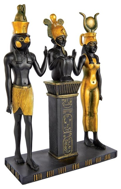 Osiris Isis And Horus Statue