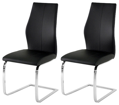 Wilkinson Furniture Elis Dining Chair Set Of 2 Black Contemporary Chairs