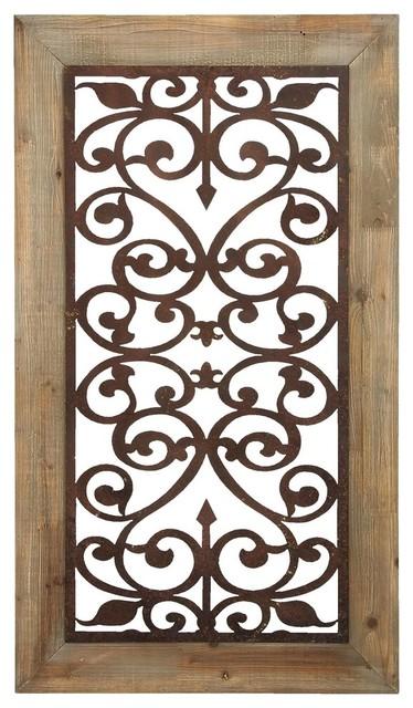 Metal Wood Wall Plaque.