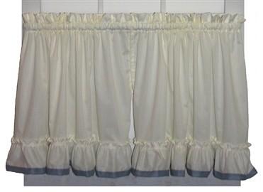 4 Pc Tropical Palm Leaf Jacquard Curtain Set Slate Blue Brown Valance Drape Liner Tieback