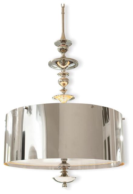 Karel Polished Nickel Hollywood Regency Pendant Lamp 39 25 Inch