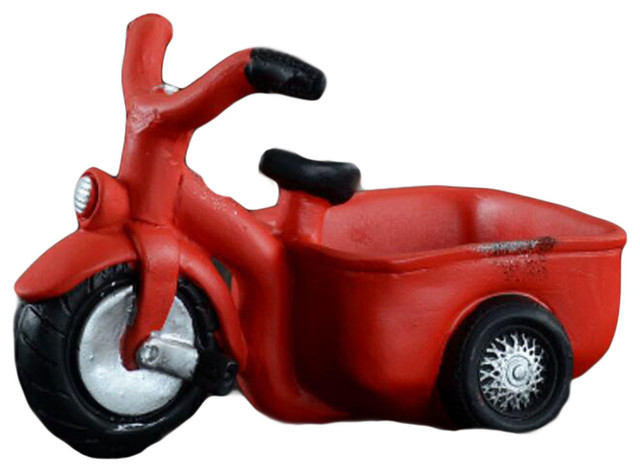Outdoor Indoordecor Tricycle Cement Garden Flower Pots Planters Red Contemporary And By Blancho Bedding