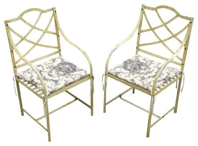 1930s Wrought Iron Folding Patio Chairs
