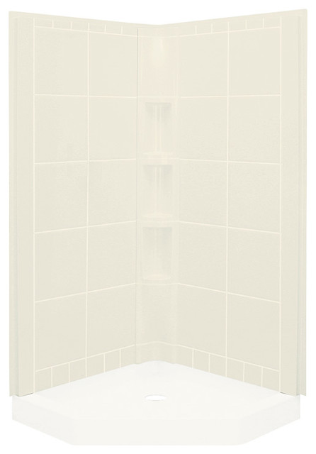 Sterling Corner Shower Kits STERLING Solitaire Economy 42 in x 29