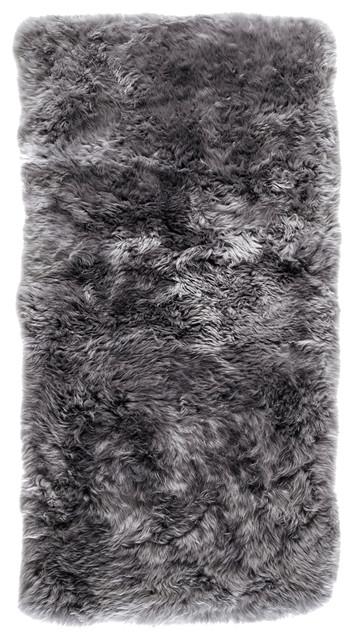 New Zealand Sheepskin Rug, 70x140 cm, Grey
