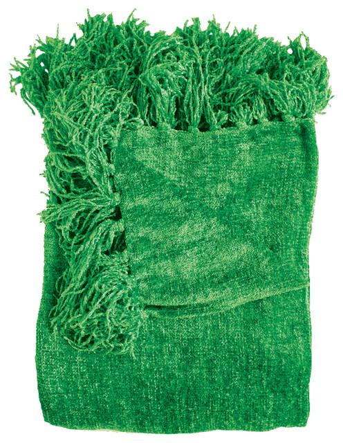 Susan Throw Blanket, Emerald.