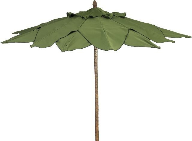 11&x27; Bambusa Umbrella Push Up With One Piece Bamboo Look Pole Finish.