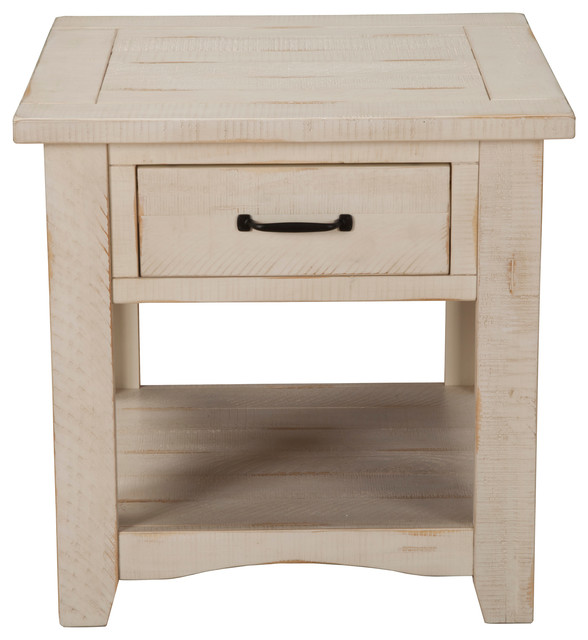 73f07fc751 Martin Svensson Home Rustic End Table, Antique Black - Farmhouse - Side  Tables And End Tables - by Martin Svensson Home