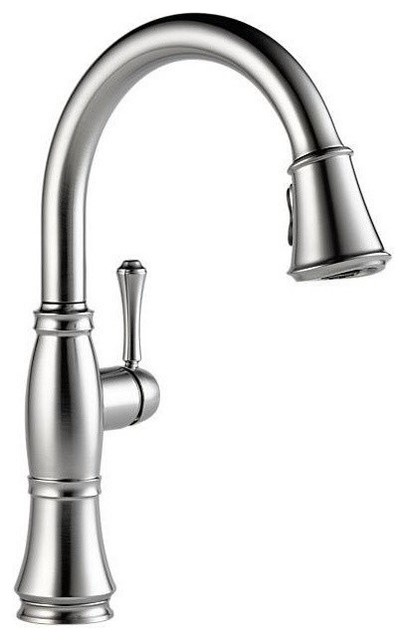 Delta Cassidy Single Handle Pull Down Kitchen Faucet With ShieldSpray  Technology   Traditional   Kitchen Faucets   By The Stock Market
