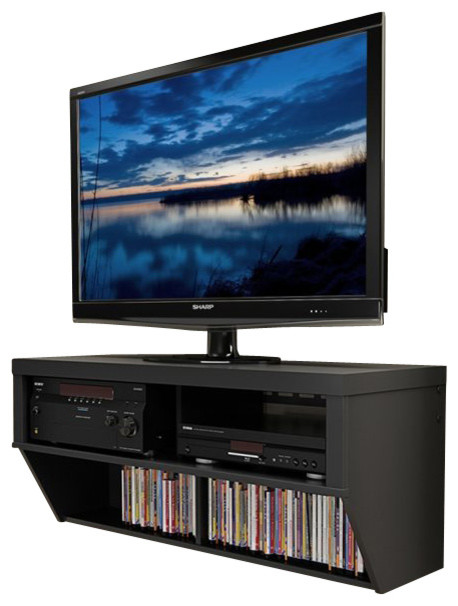 series designer wide wall mounted av console black transitional entertainment tv center ideas mount plans ikea besta framsta entertainme