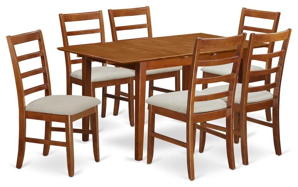 7-Piece Rectangular Kitchen Table Featuring 12\