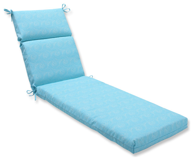 Nabil sunflower chaise lounge cushion contemporary for Blue outdoor chaise lounge