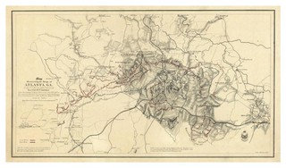 24x36 Vintage Reproduction Civil War Map Field Of Shiloh Pittsburgh 1862